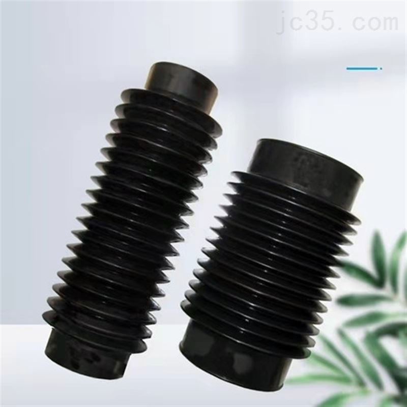 圆形丝杠防护罩气缸伸缩式保护套橡胶丝杠