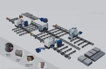 H型钢切割生产线